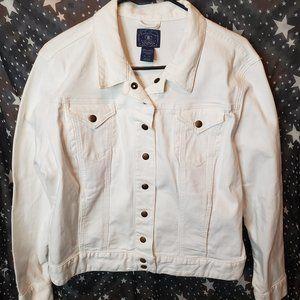 Lucky Brand White Denim Jacket XL